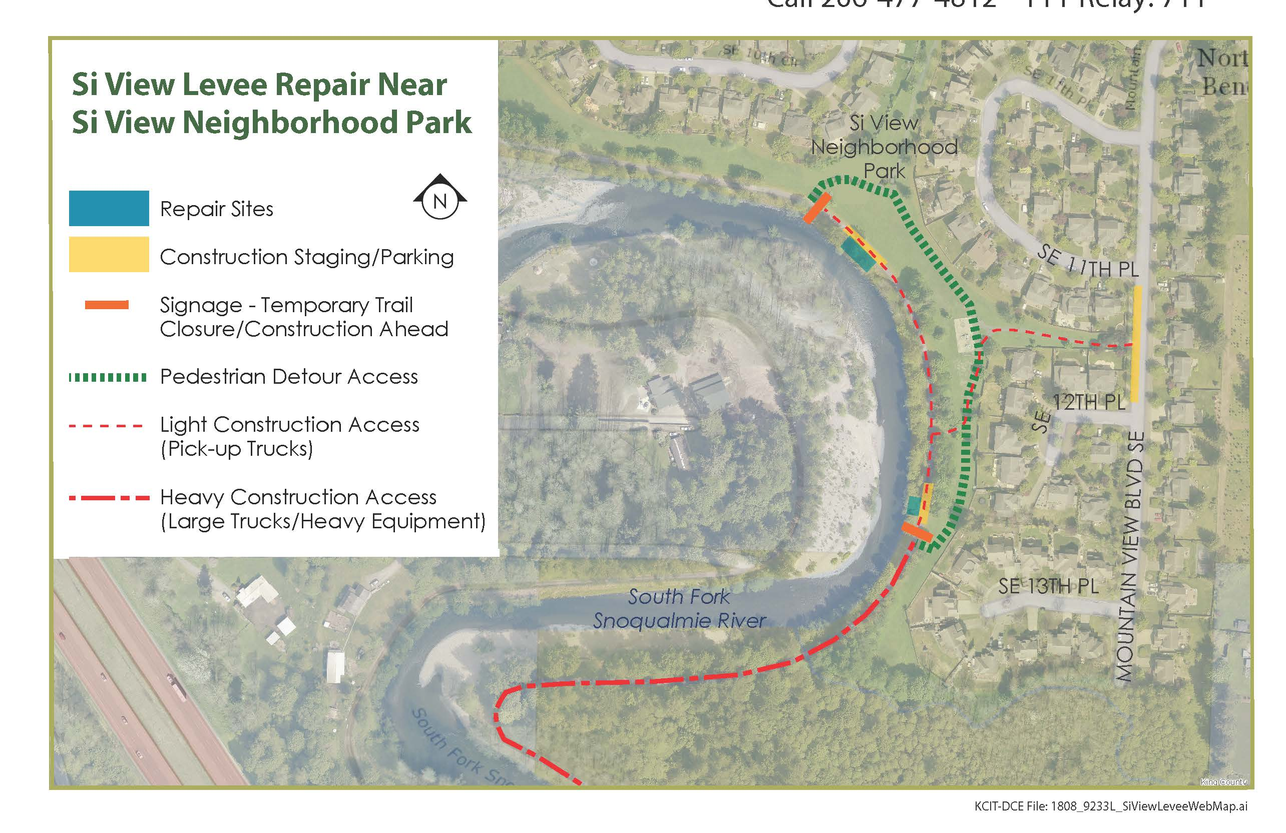 Si View Levee Repair Map