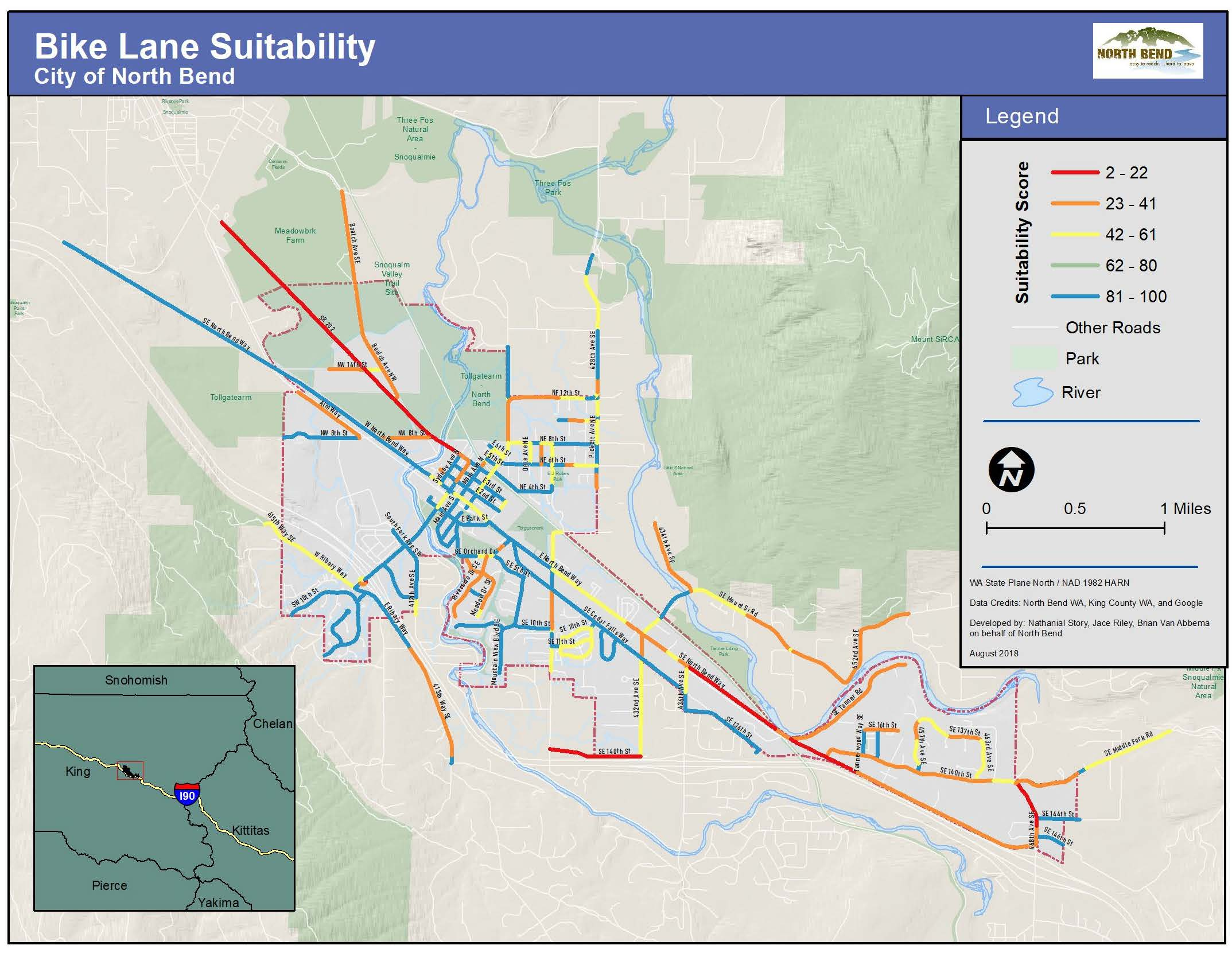 Bike Route Suitability Map