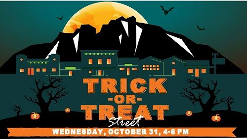 trick or treet street sign
