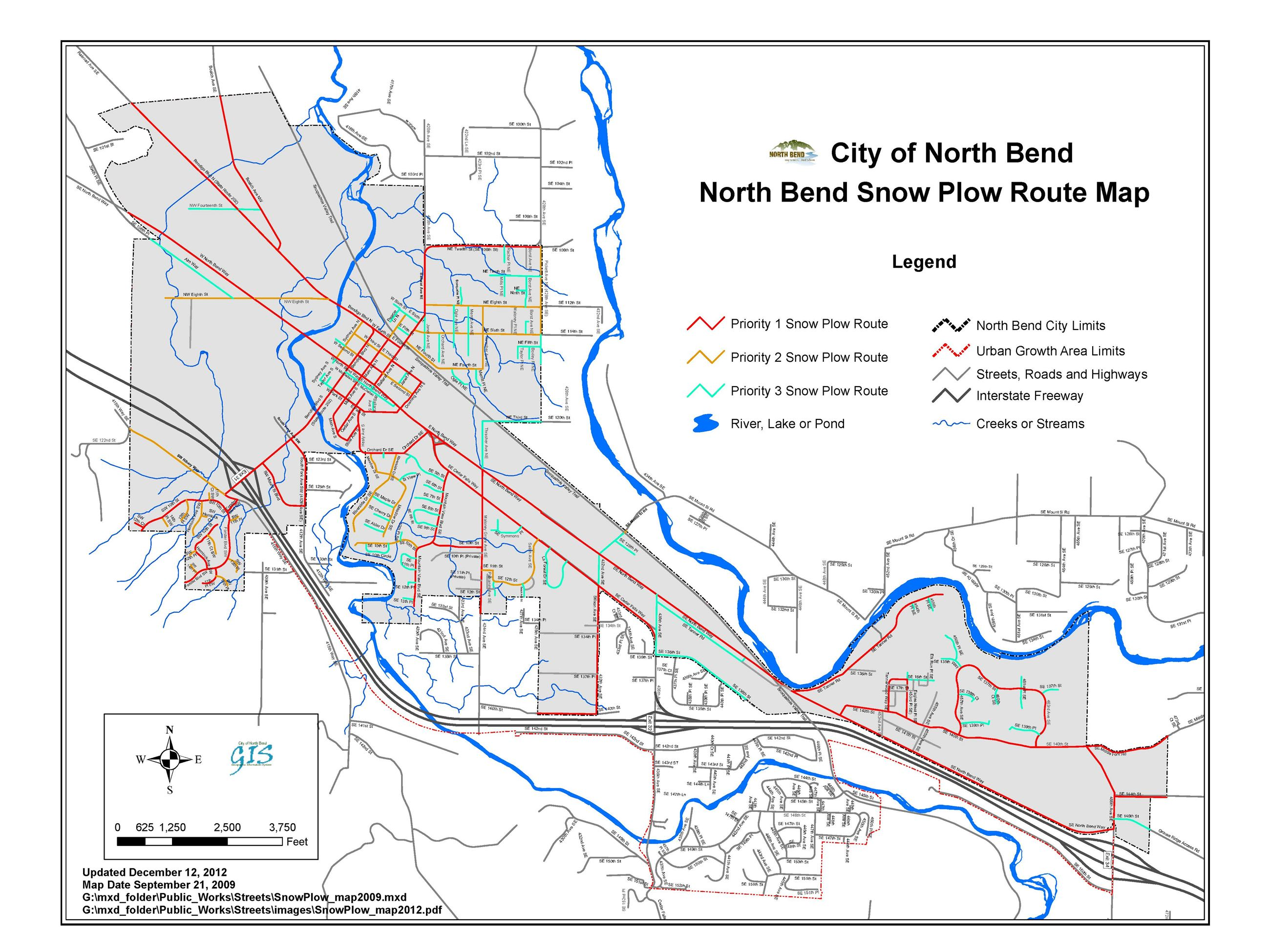 Snow Plow Route Map
