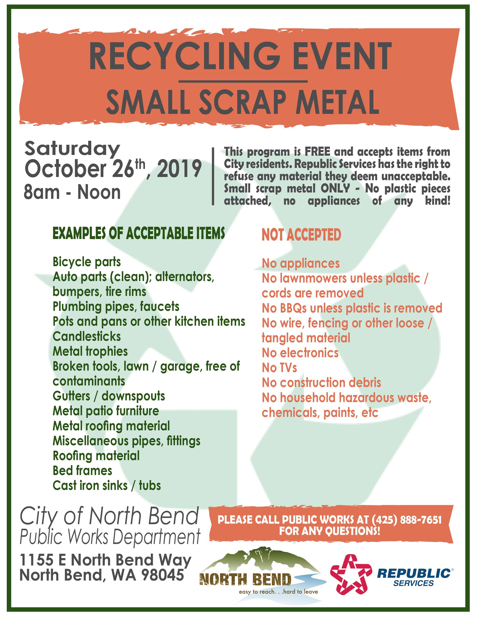 Scrap Metal Recycling Event