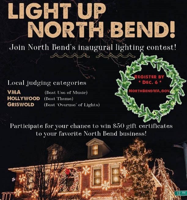 LIght Up North Bend Contest Poster2 (1)