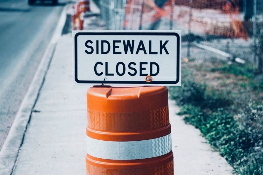 sidewalk closed 2