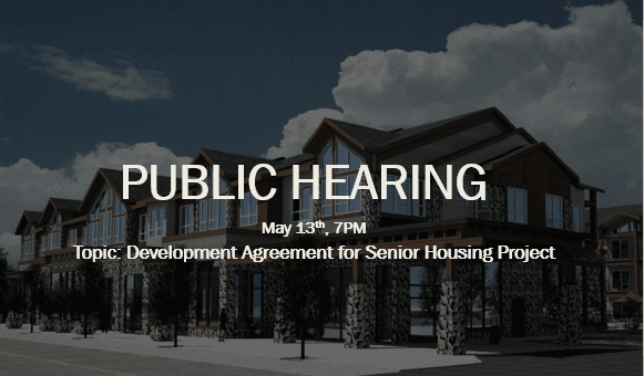 senior housing public hearing infographic