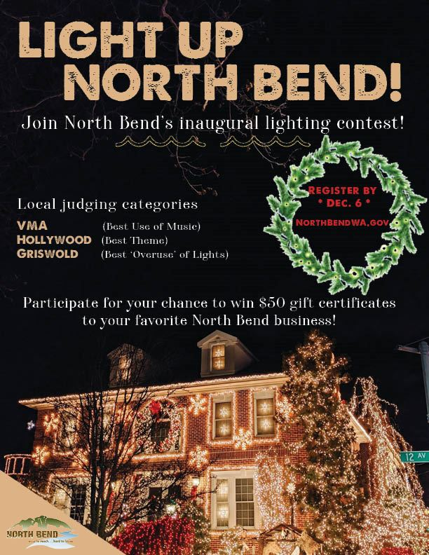 LIght Up North Bend Contest Poster2