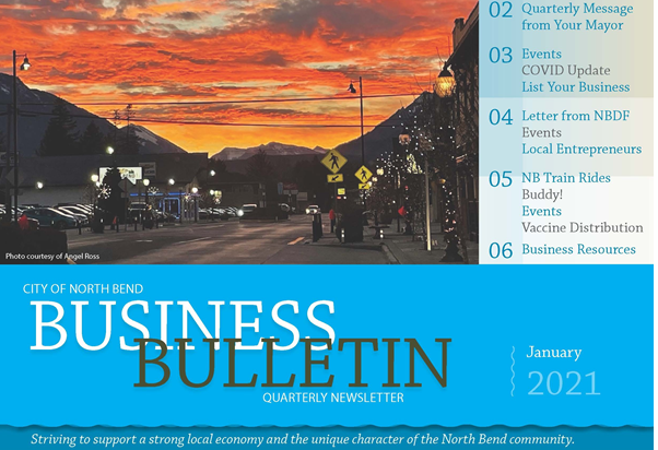 business bulletin cover
