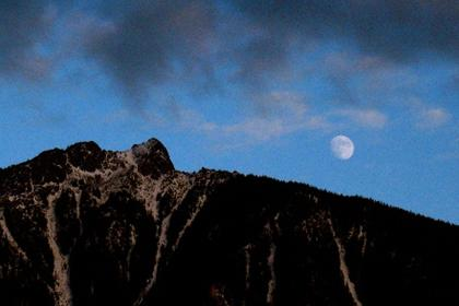 Moon over Mt. Si