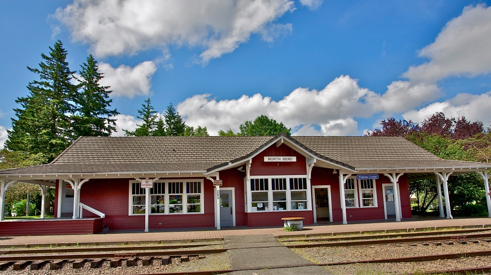 North Bend Train Depot by Sandy Horvath